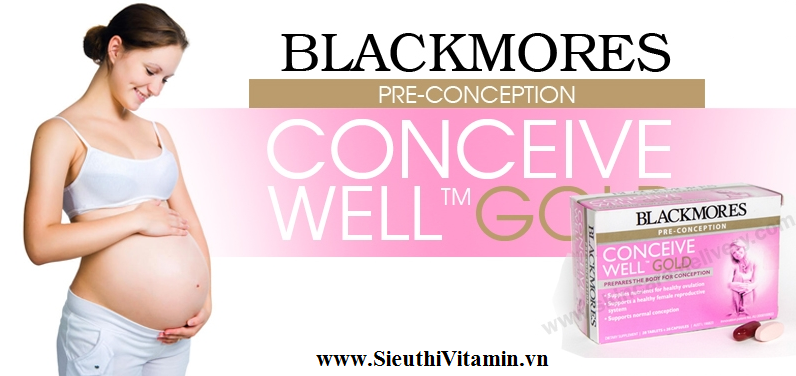 Blackmores Conceive Well Gold banner