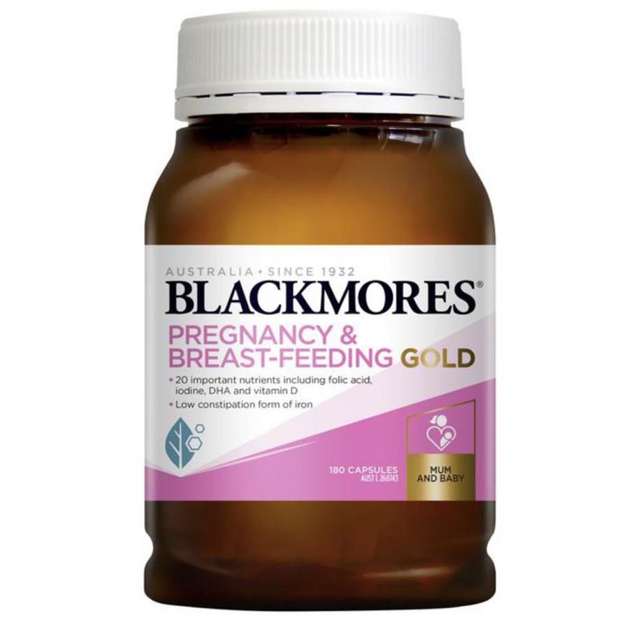 Blackmores Pregnancy & Breast - Feeding Gold (180 viên) - Vitamin cho bà  bầu - Siêu thị Vitamin